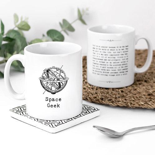 Space Geek Vintage Words Quotes Mug x 3