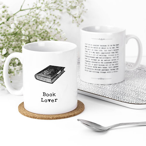 Book Lover Inspiring Quotes Mug for Bookworms
