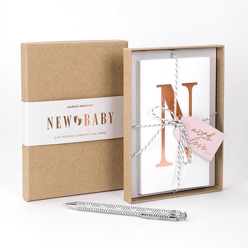New Baby | Luxury Boxed Concertina Card x 3