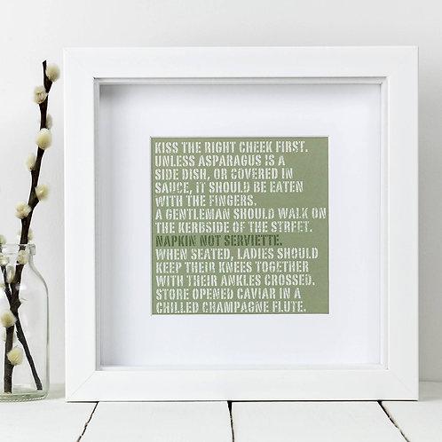Asparagus Square Print x 10 (Mega Discount Bundle £1.75 EACH)
