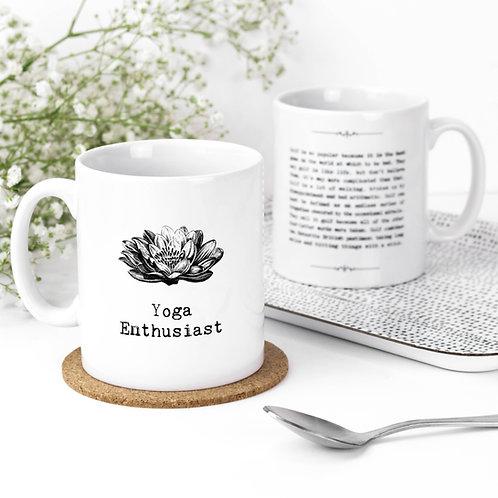 Yoga Enthusiast Inspiring Quotes Mug for Yogis