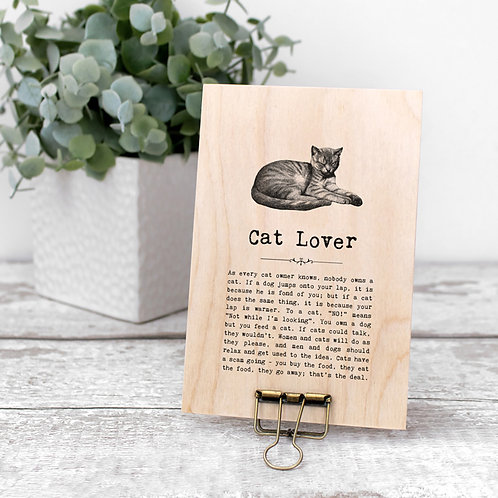 Cat Quotes Wooden Sign with Hanger