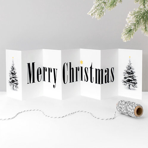 Merry Christmas Fold-Out Banner Card