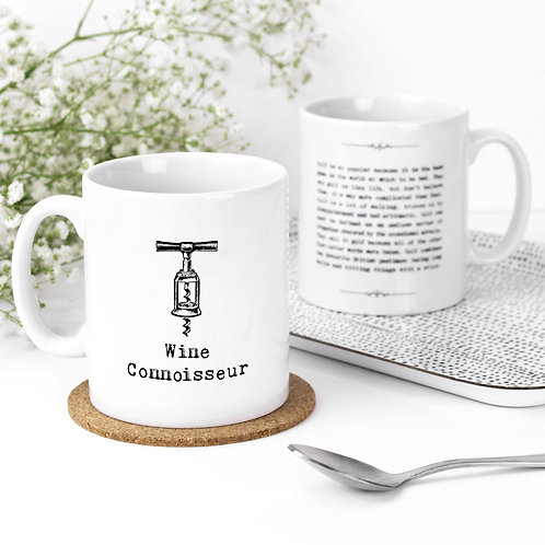 Wine Connoisseur Quotes Mug for Vino Lovers
