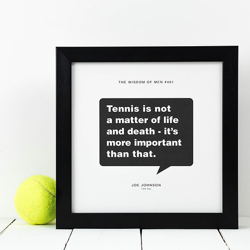 Personalised Gift for Him | Tennis Print
