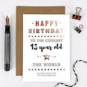 13th Birthday Card
