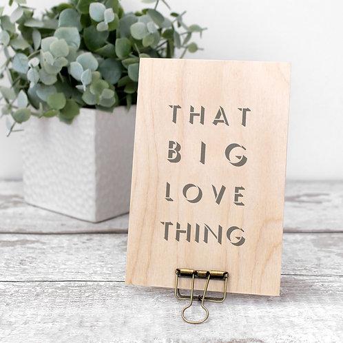 Big Love Wooden Plaque with Hanger x 3
