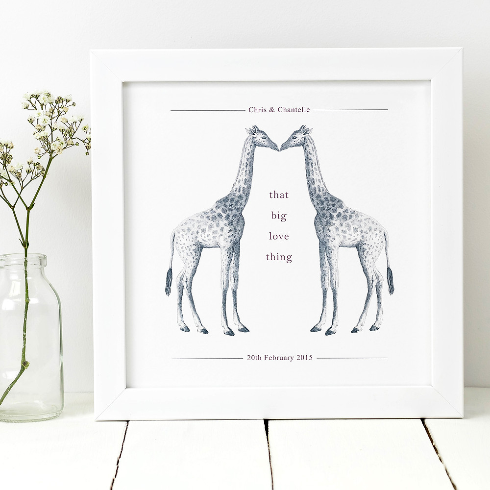 We Kissed - A3 Bespoke Love Print