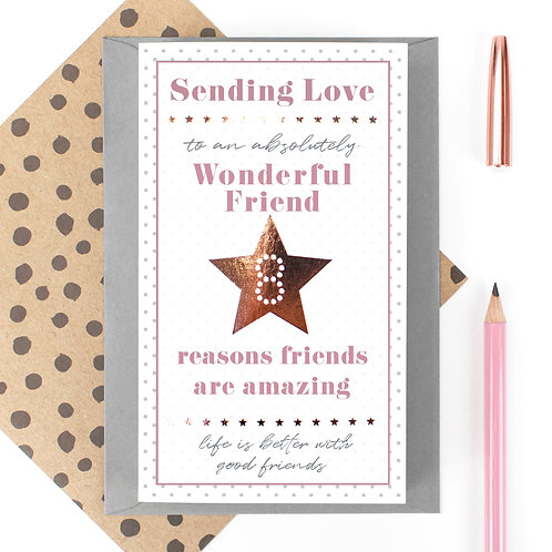 My Wonderful Friend 8 Reasons Fold Out Quotes Card