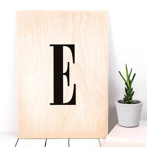 Letters A-Z Monogram Initial Wooden Plaque