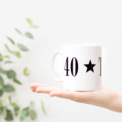Monochrome 40 TODAY Mug for Middle Age