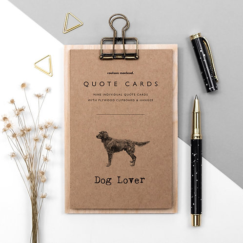 Dog Lover Quote Cards on Mini Clipboard x 3