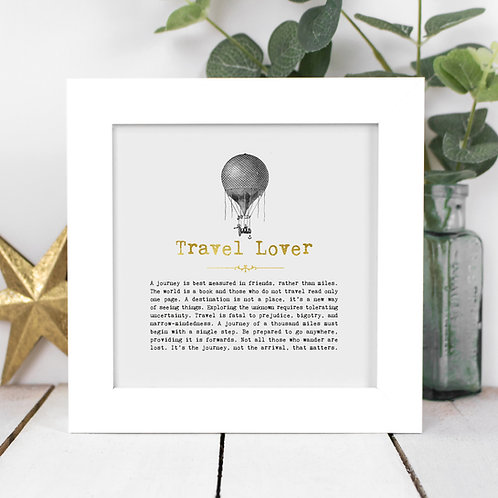 Travel Lover Personalised Framed Quotes Print