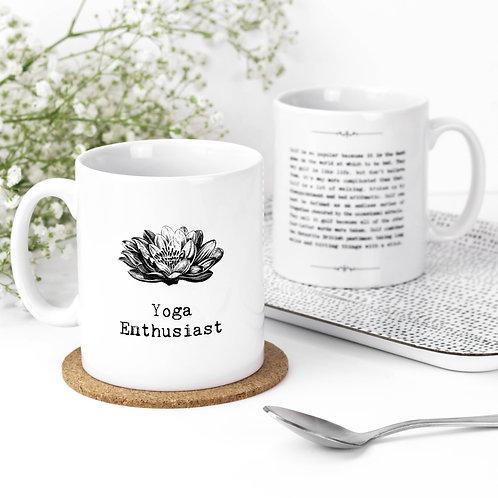 Yoga Enthusiast Vintage Words Quotes Mug x 3