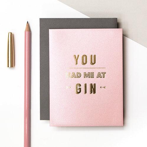 Gin Mini Metallic Card | Precious Metals