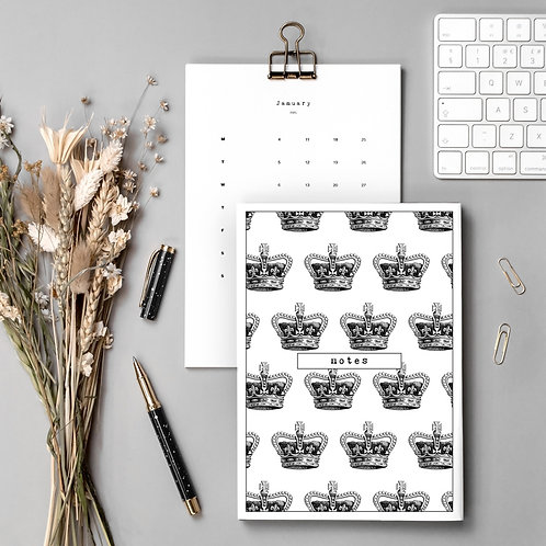Style Queen Gift Set with Calendar and Notebook