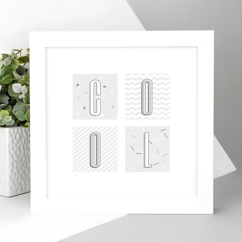 COOL Geometric Square Print
