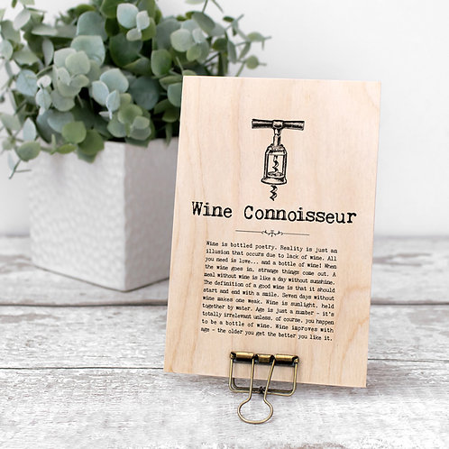 Wine Quotes Wooden Sign with Hanger