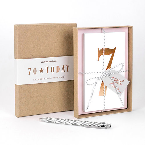 70 Today | Luxury Boxed Concertina Card x 3