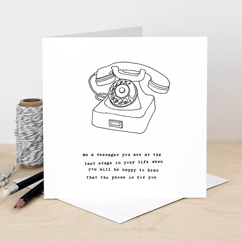 Funny Retro Telephone Greeting Card