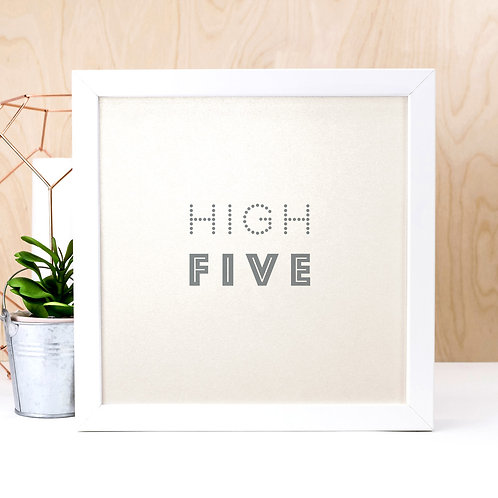 High Five | Pearlescent Art Print for Teens
