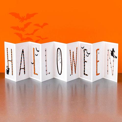 Spooky Halloween Banner Card x 6