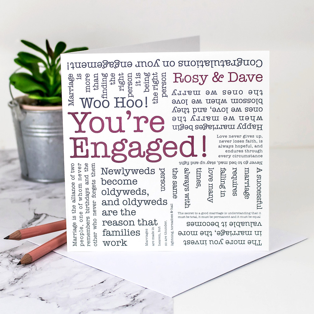 You're Engaged! Personalised Engagement Card by Coulson Macleod