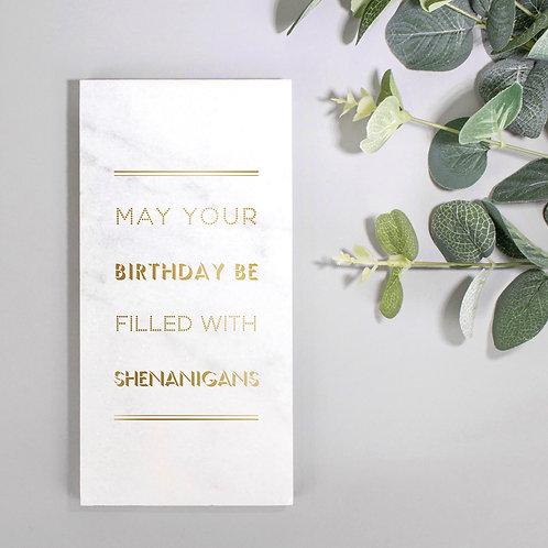 Birthday Shenanigans Marble Print x 3