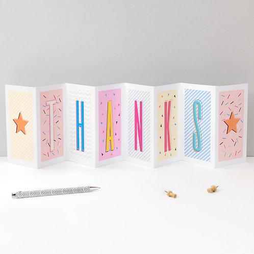 Thank You Card THANKS Fold Out Banner