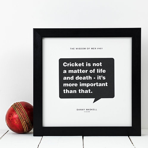 Personalised Sport Gift for Him | Cricket Print