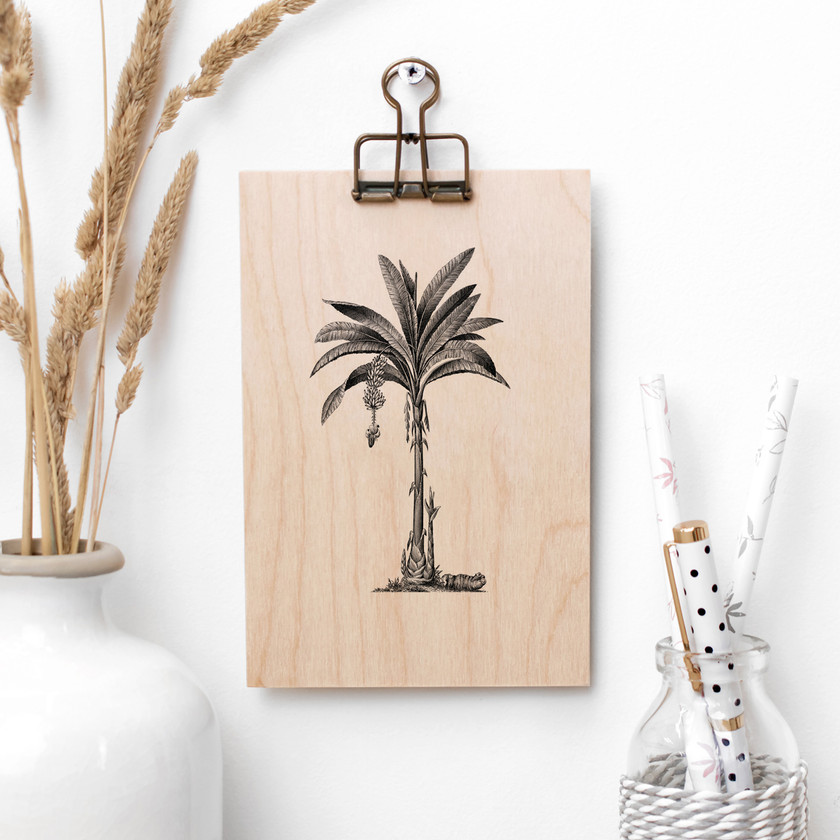 Vintage Palm Tree Wooden Sign