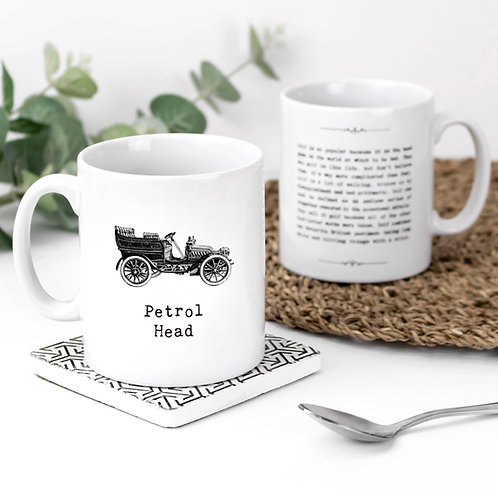 Petrol Head Personalised Quotes Mug for Car Lovers