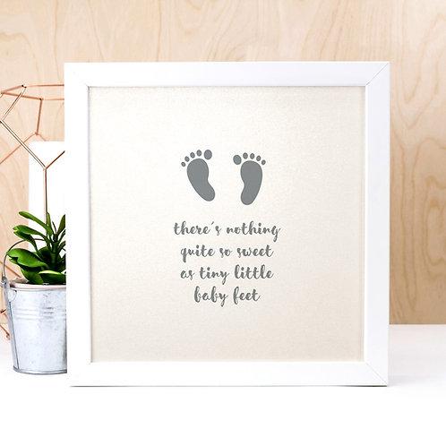 Baby Feet Pearl Print x 3