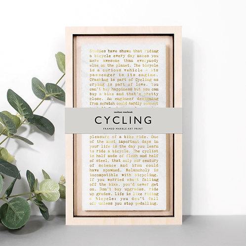 Cycling Quotes Hand-Finished Plaque for Cyclists