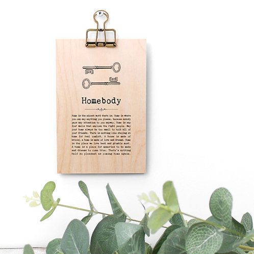 Home Quotes Wooden Sign with Hanger
