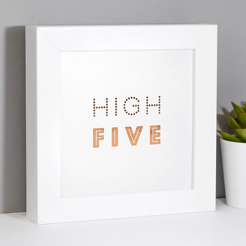 High Five! Pearlescent Framed Print for Teens