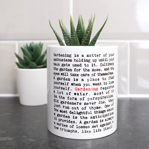 Gardening | Wise Words Plant Pot x 3