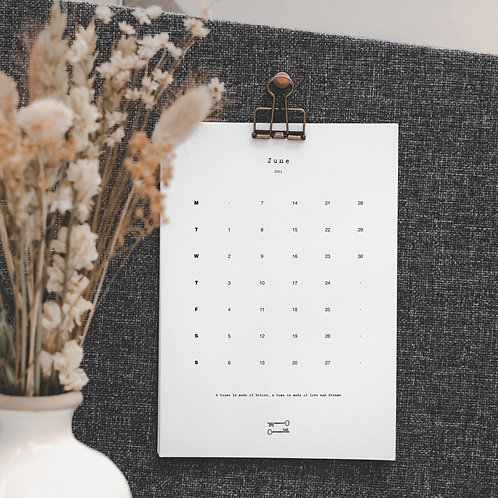 2021 Monthly Wall Calendar with Home Quotes