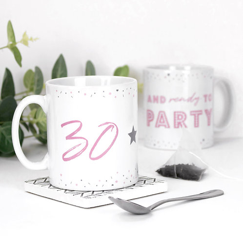 30 and Ready to Party Precious Metals Mug x 3