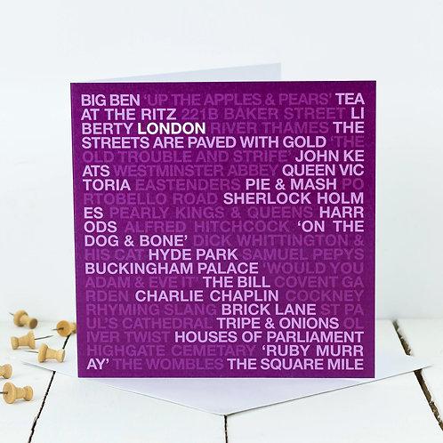 No Place Like London Greeting Card
