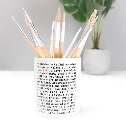 Art | Wise Words Paint Brush Holder x 3