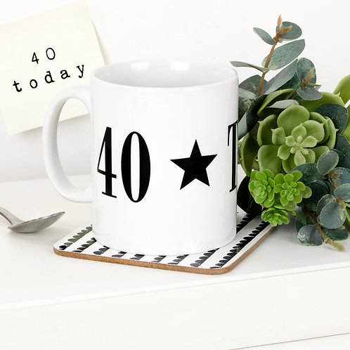 Monochrome 40 TODAY Mug x 3