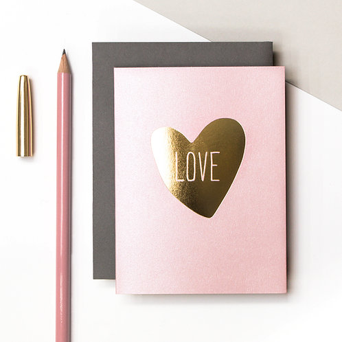 Precious Metals | Love Heart Petite Metallic Card x 6