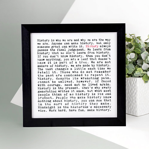 History Wise Words Print x 3