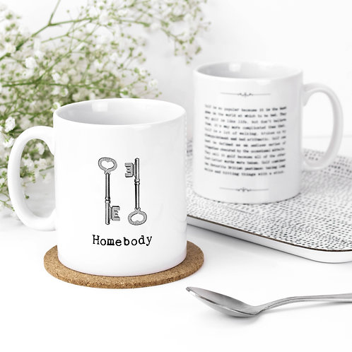 Homebody Vintage Words Quotes Mug x 3