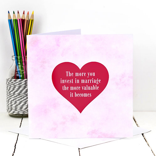 The More You Invest | Candy Cloud Marriage Card