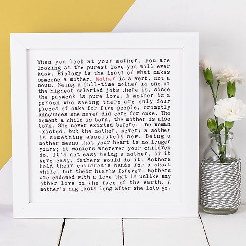 Mother Wise Words Print x 3