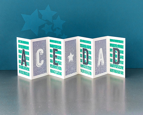 Ace Dad Concertina Card x 6