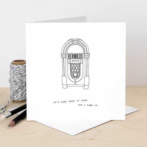 Rock 'n' Roll Jukebox Card