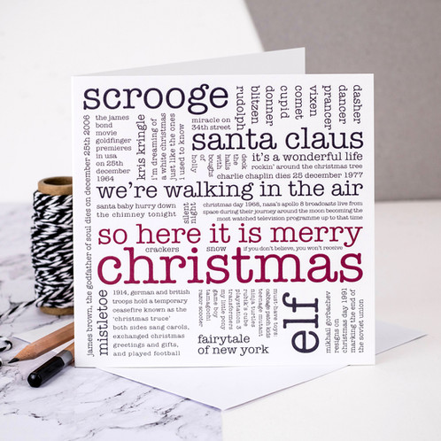 Who sang so here it is merry christmas